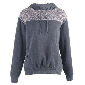 Dark Grey Shiny Plush Sweatshirt (C84D)